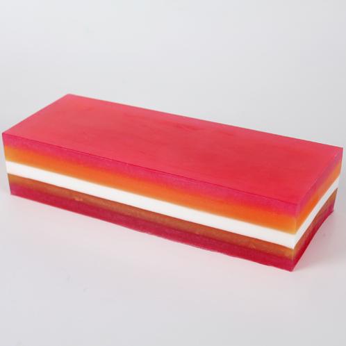 Unmolded uncut soap