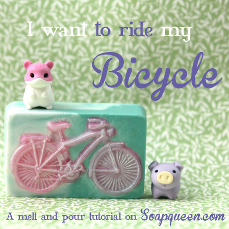 Learn how to make these adorable Bicycle Soaps!