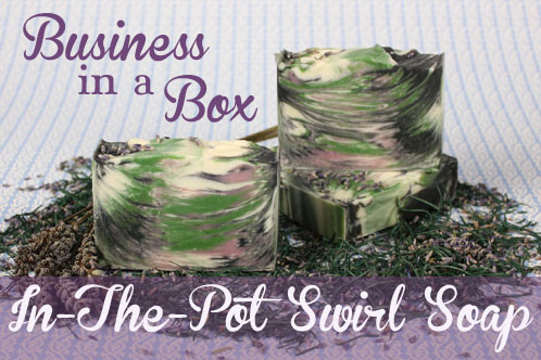 In the pot swirl soap