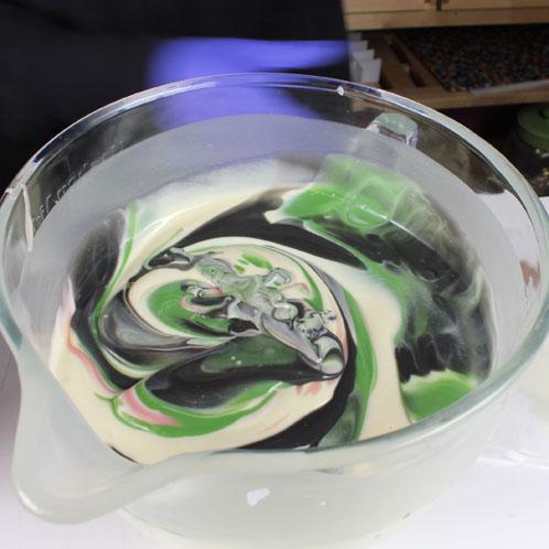 Swirled soap