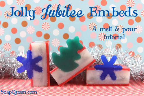 This Jolly Jubilee Embed Soap is the perfect gift and project for the holiday season!