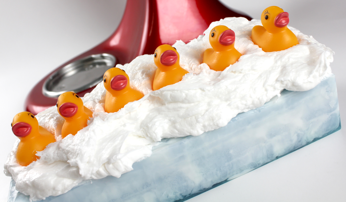 This Rubber Ducky Soaps are made by placing rubber ducky toys on each bar. They are perfect for bath time fun!