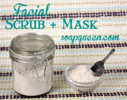 Oatmeal Facial Scrub and Mask