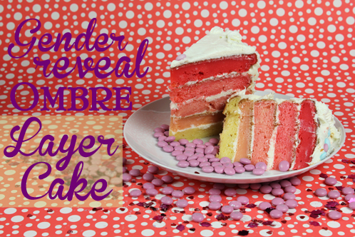 Gender Reveal Ombre Layer Cake