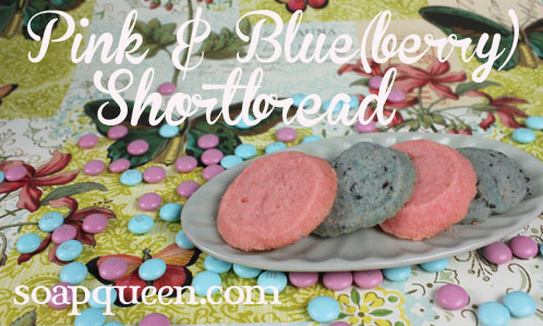 Pink and Blue(berry) Shortbread