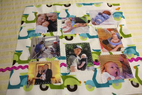 Photos sewn