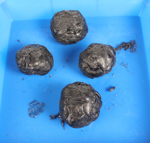 "Give the gift of ""coal"" this year with Coal Soap! It's easy to make, and looks super realistic."