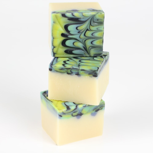 Peacock Swirl Cold Process Soap Kit