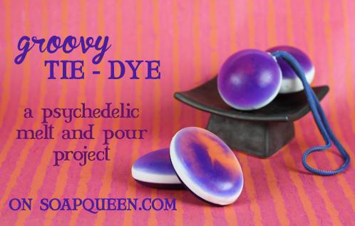 Tie Dye Swirl Soap