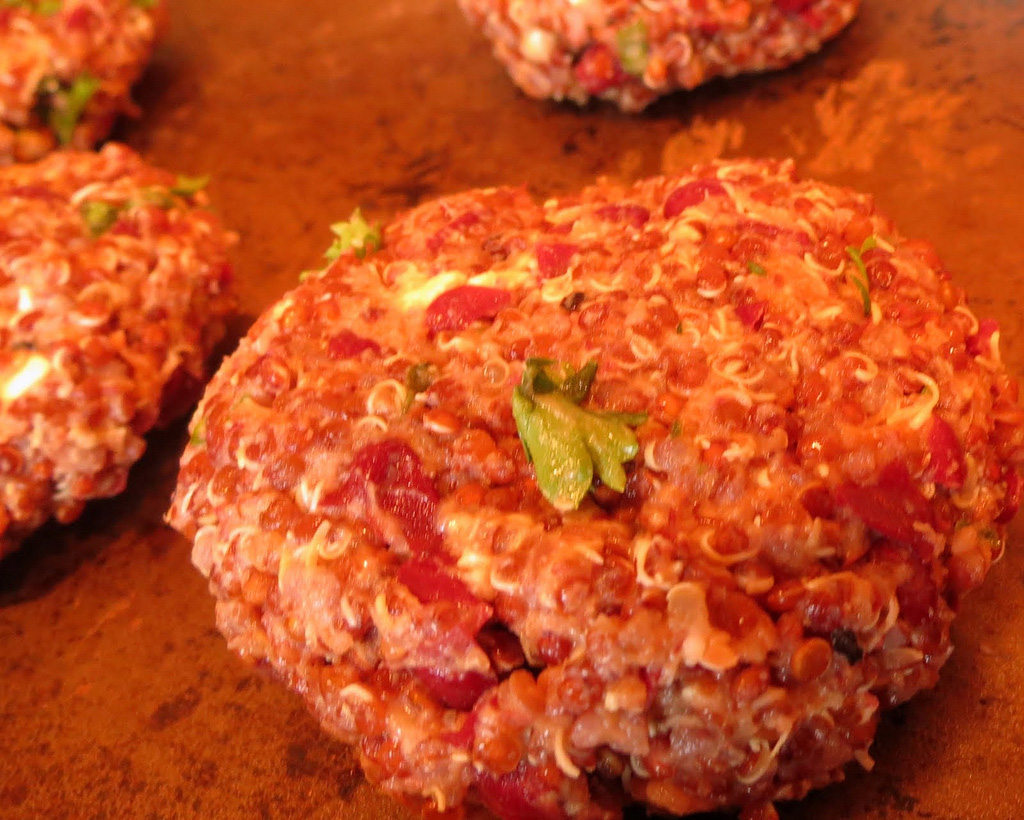 Quinoa-Feta Burgers Recipe — Dishmaps