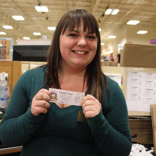 Our Cashier Won a Star Award!