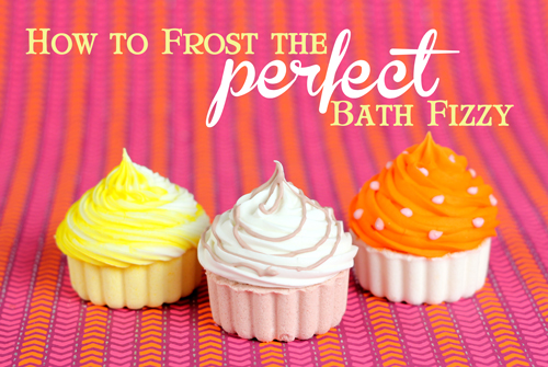 3 perfectly frosted Bath Fizzies made on Soap Queen TV