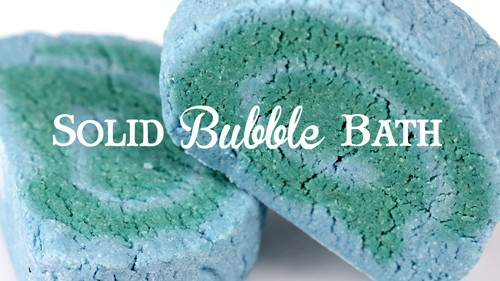 Solid Bubble Bath Recipe