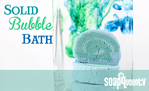 Learn to make Solid Buble Bath Bars on Soap Queen TV