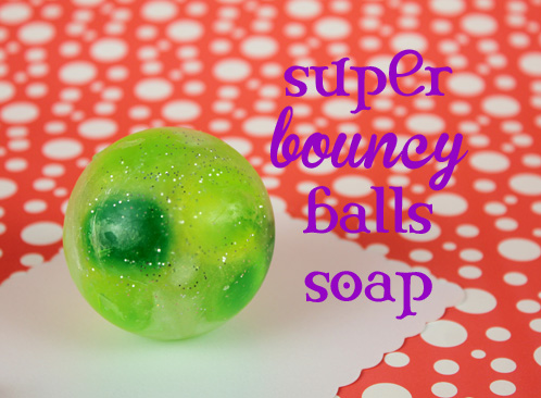 These Bouncy Ball Soaps look just like the classic toy!