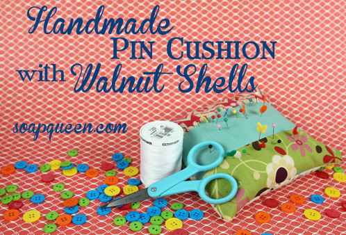 Walnut Shell Pin Cushion
