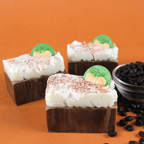 This Pumpkin Spice Latte Soap was inspired by the popular fall beverage. It looks and smells just like it!