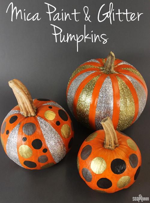 Mica Paint Glitter Pumpkins Different Ways Soap Queen - How to paint a pumpkin