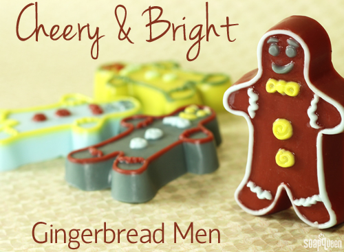 These gingerbread man soaps feature fun colors for a unique twist.
