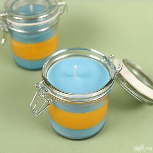 Orange Blossom Layered Candle