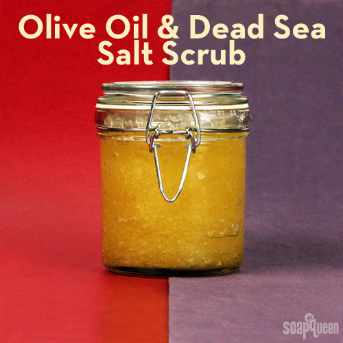 This scrub made with olive oil and Dead Sea salt could not be easier to make. It also leaves skin feeling extremely soft!