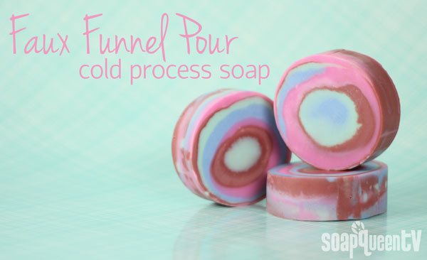 Faux Funnel Pour Cold Process Soap