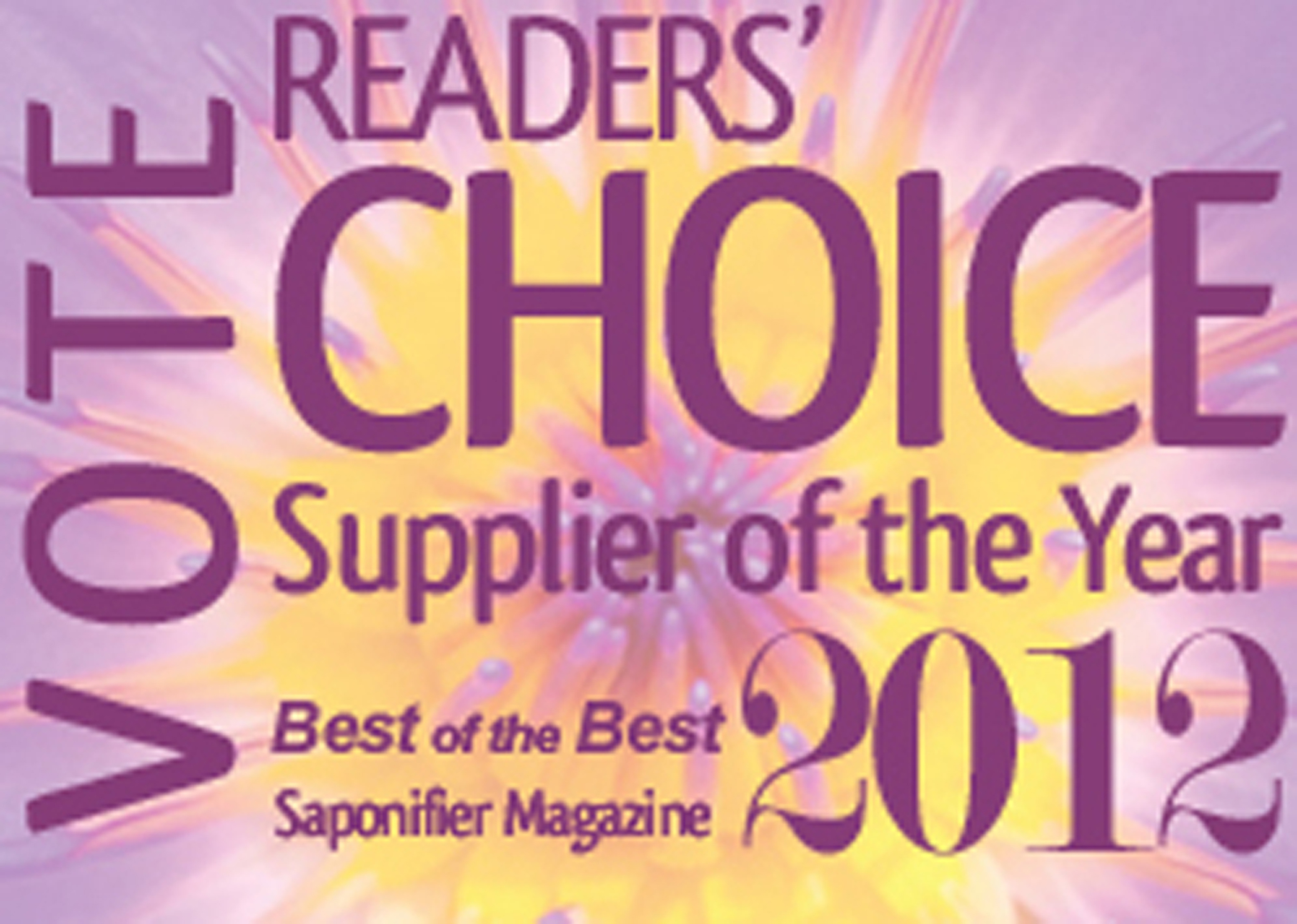 Vote for Saponifier Magazine's Supplier of the Year