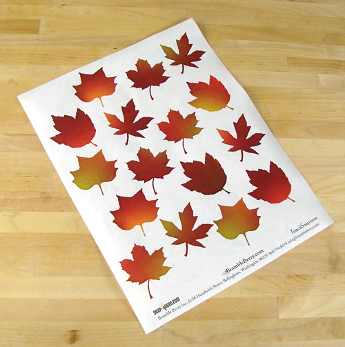 Free Fall Leaves Template