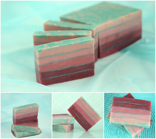 Striped Berry Champagne Soap Kit