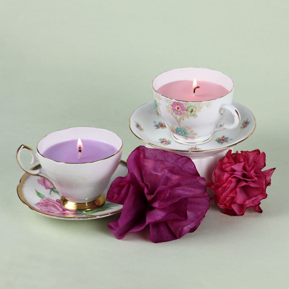 English Garden Teacup Candle Kit